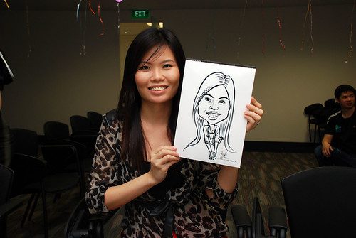 caricature live sketching for iFast Financial Pte Ltd - 3