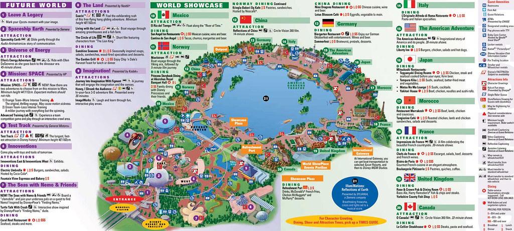 Mapa Epcot Center