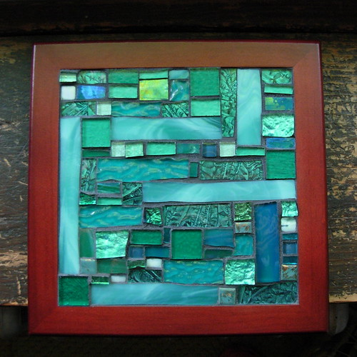 Teal Patchwork Mosaic by Margaret Almon for Ovarian Cancer Awareness