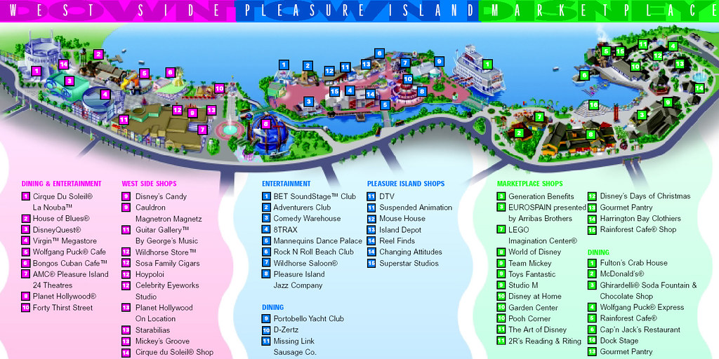 Mapa Disney Downtown