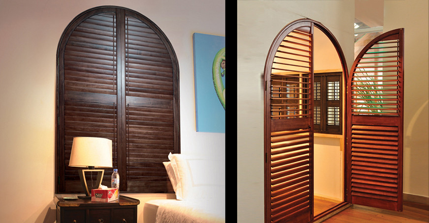 TranDucHomes shutter wooden door cua go la sach 7