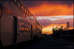 Train 707 Departing (K-Szok-Photography) Tags: california sunset backlight clouds canon outdoors lowlight socal 5d canon5d oc metrolink canondslr cloudscape 2470l commuters cloudscapes commutertrain commutertrains californiafullerton alltypesoftransport aphotographersnature kenszok