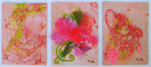 Three fabric atc in a row
