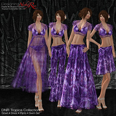 DNR Tropica Collection LandScape Poster Purple (designingnickyree) Tags: pants jacket bikini dresses gowns swimwear nickyree slfashion resortfashion