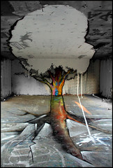 TSF tree (Milouz & Papy) (Chrixcel) Tags: tree graffiti tsf tag perspective graff arbre papy trompeloeil décor anamorphose milouz anamophosis