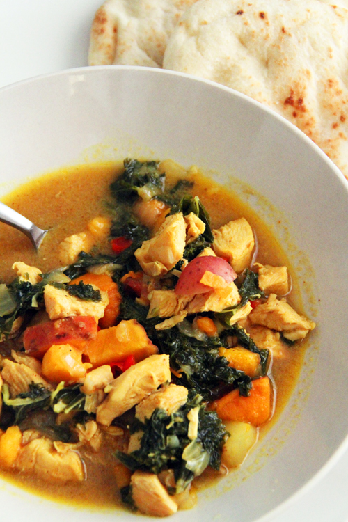 andy's chicken and kale curry