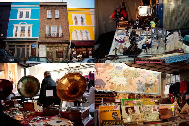 foto mercatino portobello londra