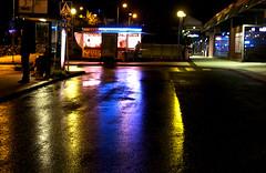 Tikkurila (Sirja Ellen) Tags: light station canon lights bynight tikkurila vantaa flickrchallengegroup canoneos500d