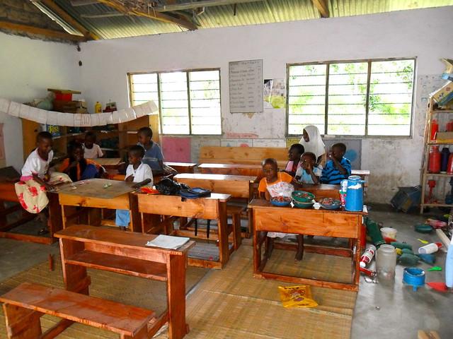First desks for these children!