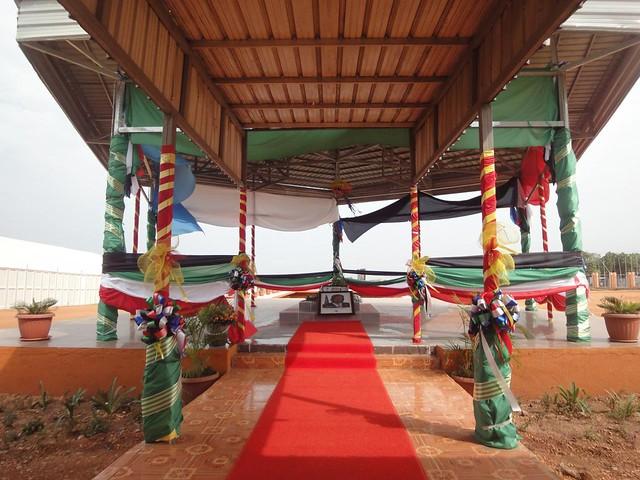 Mausoléu do antigo Presidente em Juba, Sudão do Sul