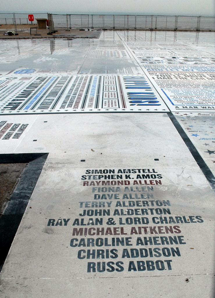 Blackpool's Comedy Carpet (under construction)