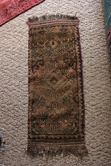 Persian/Asian Handwoven Rug (blackthorne56) Tags: brown glass asian carpet persian perfume cut painted jar rug dresser rugs carpets goodwill lure floater crappie enameled atomizer checkoslavakian