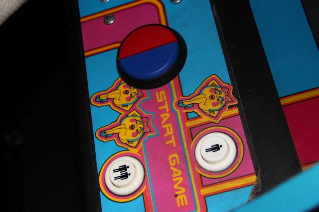 Mrs Pacman arcade buttons