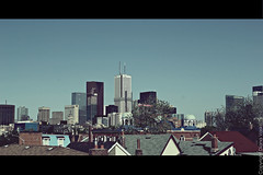 Toronto Cinematic (Shakethatchicken) Tags: city summer urban toronto canada buildings downtown rooftops
