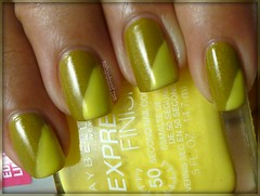 Day 3: Yellow -- China Glaze Trendsetter & Maybelline Banana Bama
