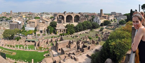 The Roman Forum from Palatine Hill
