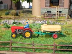 Prosche-Schlepper Super 308, 1954 (cosmosminimus, dioramas 1:87 (H0)) Tags: jojubach porsche super308 h0 landwirschaft agricultura agriculture traktor tractor 187