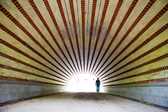 Into the Sun (Nick Mulcock) Tags: park 2 sun man canon walking amazing flickr gallery ray mark centralpark go central award tunnel places journey 5d rays sunray placestogo centralparktunnel flickraward flickraward5 flickrawardgallery