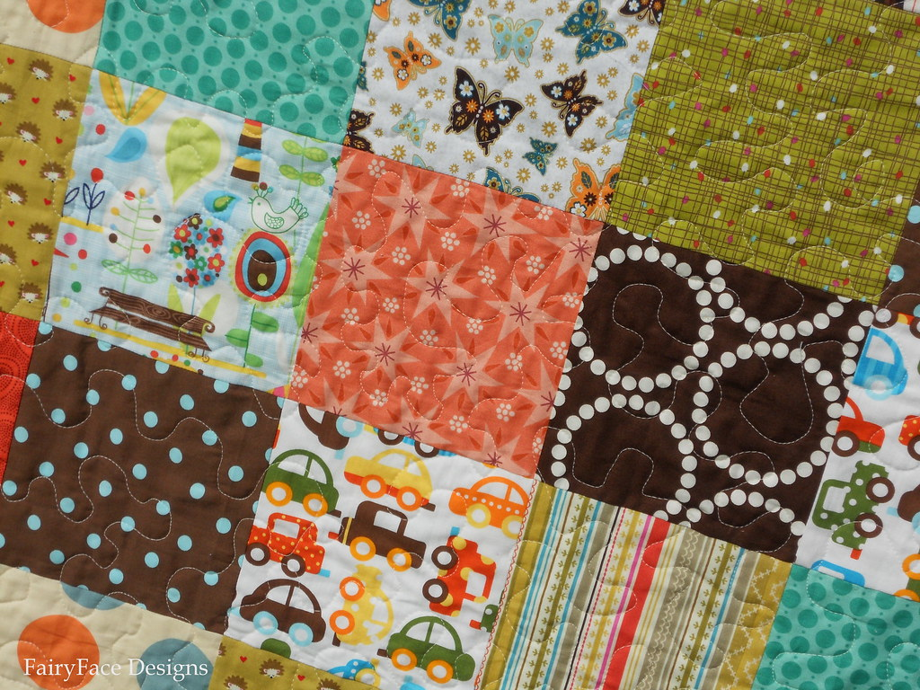 Autumn Baby quilting detail 2