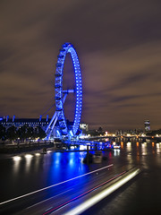 London Eye (Abdulrahman BinSlmah) Tags: blue london eye thames clouds river ed nikon october nikkor afs d300 f28g 1424mm