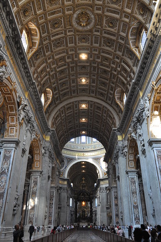 The nave of St Peter's Basilica