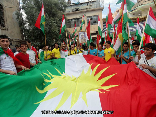 From flickr.com: The National Flag of Kurdistan {MID-168232}