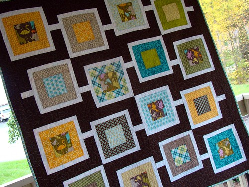 Chocolate Sanctuary baby quilt