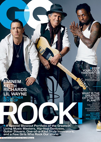 lil wayne eminem and keith richards gq magazine cover