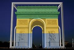 Arc de Triomphe 2014 Gabon (Arc 2014) Tags: sculpture art de arc triomphe premiere hommage guerre monumentale mondial 2014 2018 inox peuples