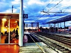End of the day (RosLol) Tags: people urban station train parma stazione treno iphone liveinthecity roslol
