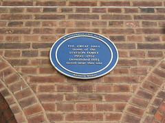 Photo of Great Hall blue plaque