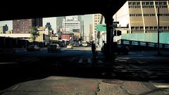 Westside (Dj Poe) Tags: street new york city nyc light cinema ny man zeiss canon t photography eos shadows mark manhattan candid taxi ii 5d westside cinematic ze distagon hailing 1435 5dmkii 5dmk2
