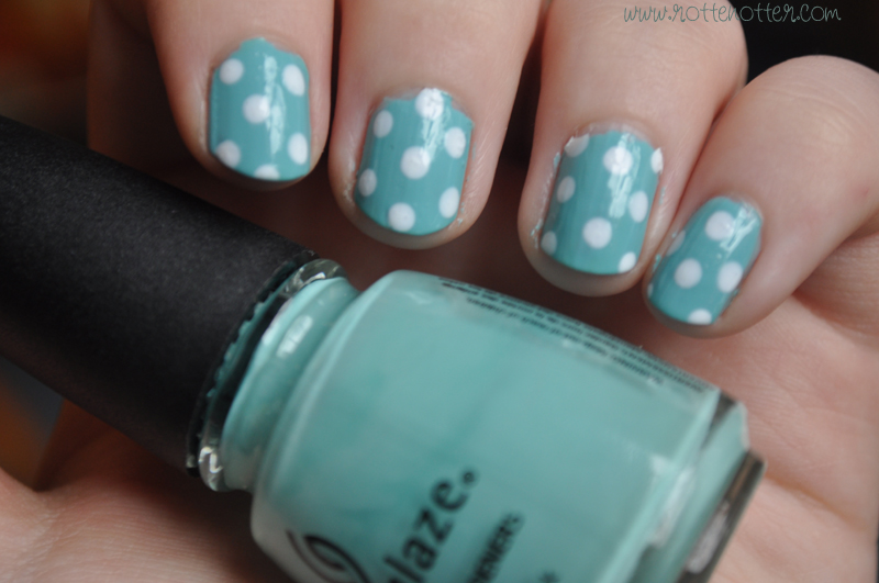 notd polka dot china glaze for audrey nail polish 02