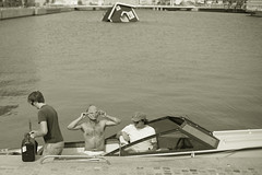 Just a normal day at the harbor (Haz_man) Tags: harbor yoda cottage malm motorboat sinking malm
