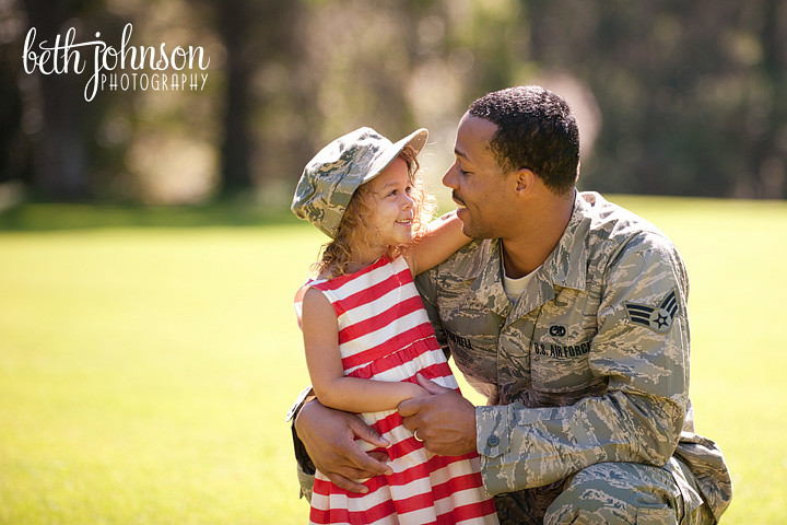 air force officer with his daughter before deployment oplove