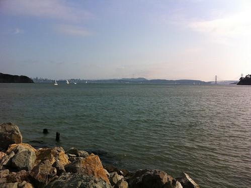 San Francisco & Golden Gate bridge from Tiburon