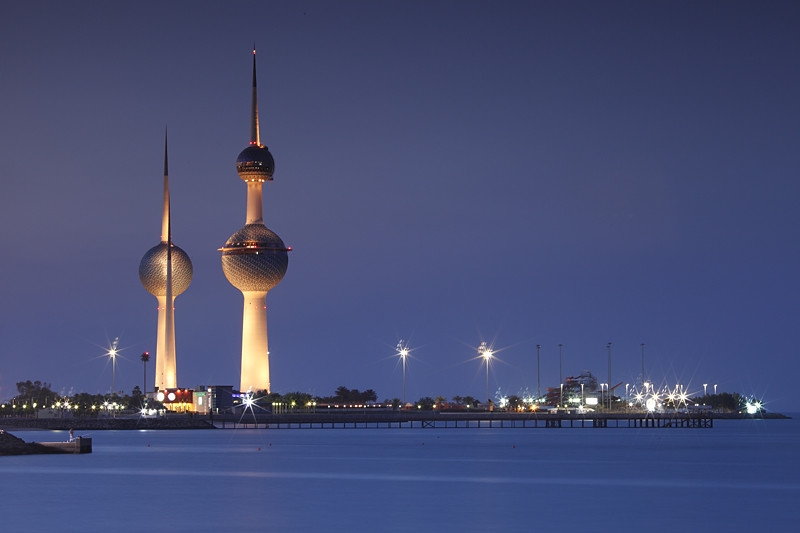 Kuwait Towers Blue hour