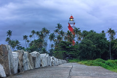 """The Guiding Light (""""The Wanderer's Eye Photography"""") Tags: lighthouse india twilight bangalore kerala bluehour karnataka kollam hdr guidinglight quilon tangasseri pseudohdr john812 tangasserilighthouse canoneos450d theguidinglight canoneosrebelxsi rubenalexander thewandererseye tangasseripointlighthousestation 08°527'n76°340'e britisheastindiaco quilonkollam iamthelightoftheworldhewhofollowsmewillnotbewalkinginthedarkbutwillhavethelightwhichislife"""