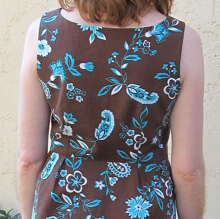 Lisette Passport Dress, back detail