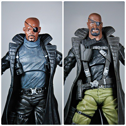 Nick Fury: Movie Series vs The Ultimates (comic) version