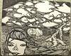 (rafael-castillo) Tags: black tree moleskine girl pen hair book sketch drawing sketchbook doodle draw piece mole gauges blackbook skine