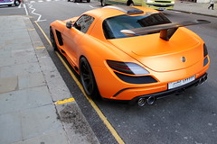 Orange (PK Wright) Tags: street summer fab orange white colour london k mercedes benz design arabic arab p wright matte sls amg spoiler 300sl sloane gullstream worldcars