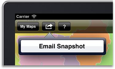 Easy map snapshot sharing
