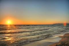 Spiaggia della Giannella (Jacopo Reggiani) Tags: sunset sea panorama sun water tramonto mare dusk tuscany toscana sole acqua hdr controluce maremma argentario tonemapped