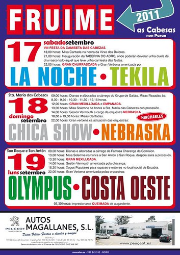 Lousame 2011 - Festas en Fruime - cartel