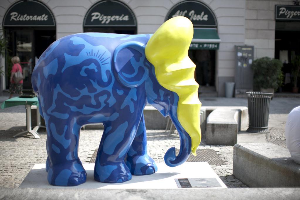 milano, milan, italy, elephant parade