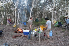 Preparing dinner (jennifrog) Tags: camping 4wd wingello stateforest
