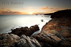Sunset on Anglesey (Pete Barnes Photography) Tags: ocean longexposure sunset sea seascape water wales landscape photography coast rocks waves wind slowshutter welsh anglesey northwales rohoscolyn