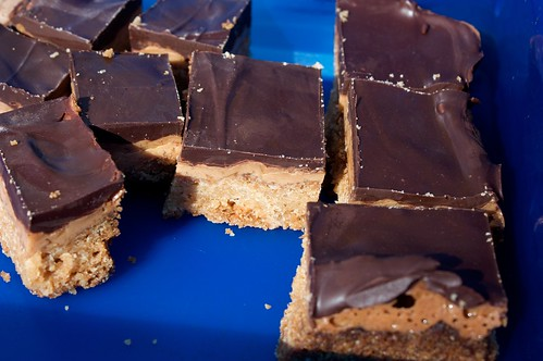 caramel chocolate slice