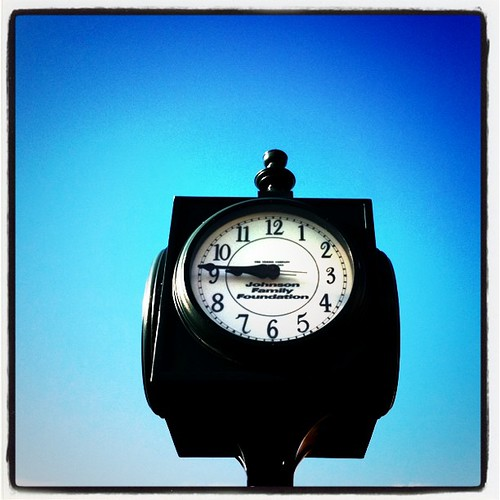 Courtyard clock